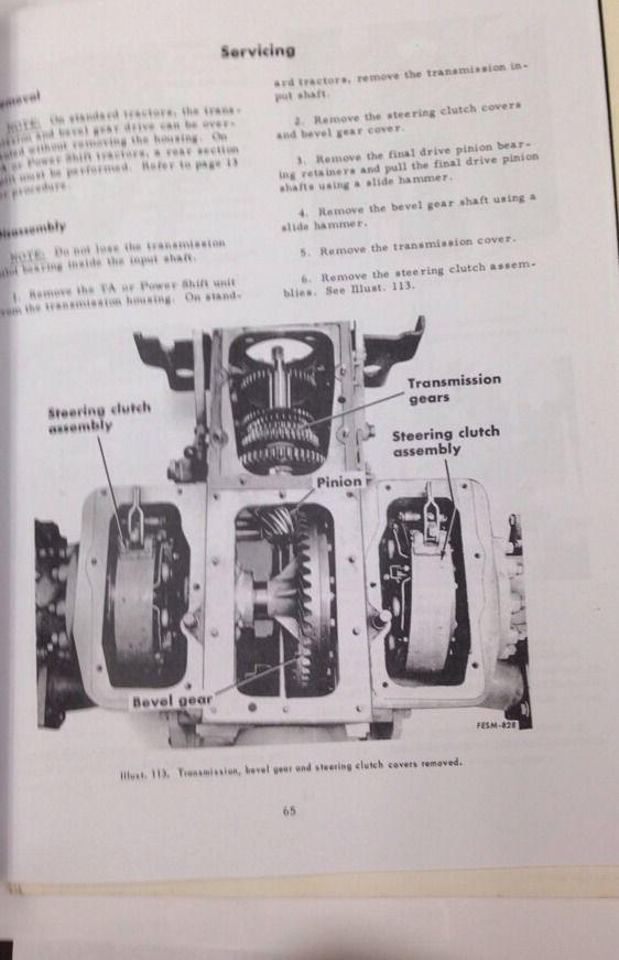 Sd International Ih Dresser Crawler Tractor Service Manual Form Gss