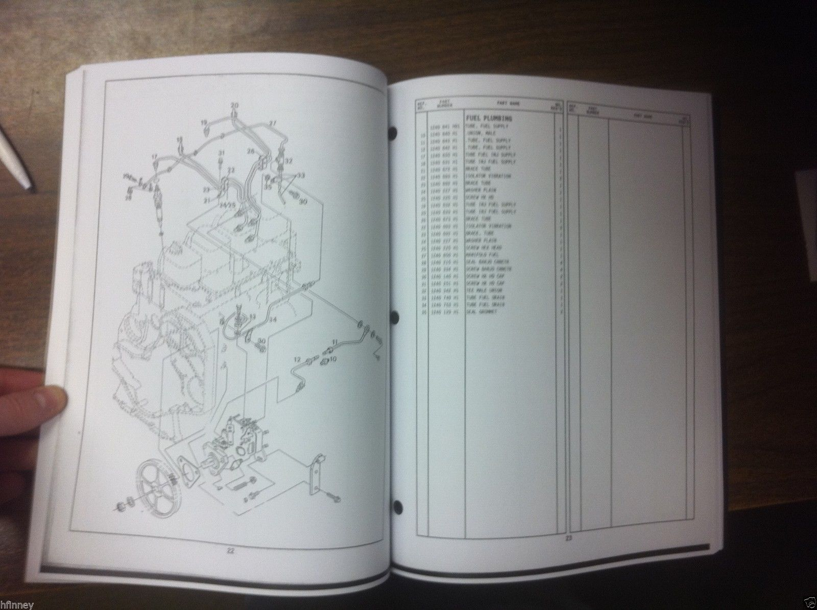 international harvester ih dresser 125g d240t td8g engine parts manual  book new