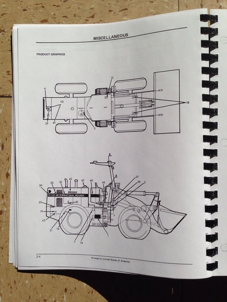 international dresser 510b 515b wheel loader chassis parts manual rh finneyparts us Hough Payloader Hough Payloader