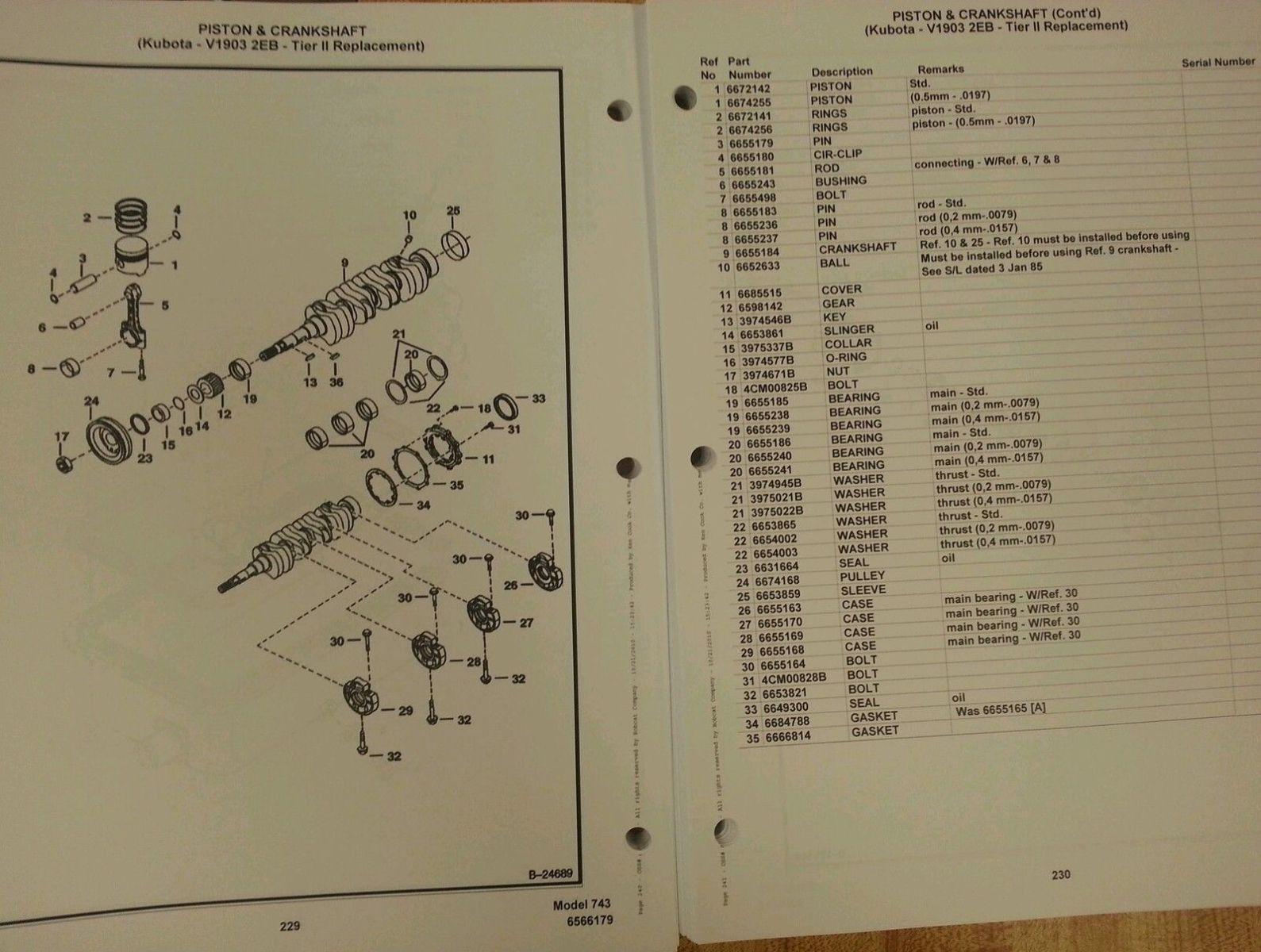 bobcat 743 early parts manual book skid steer loader 6566179 rh finneyparts us bobcat 743 parts manual pdf Bobcat Hydraulic Pump Diagram