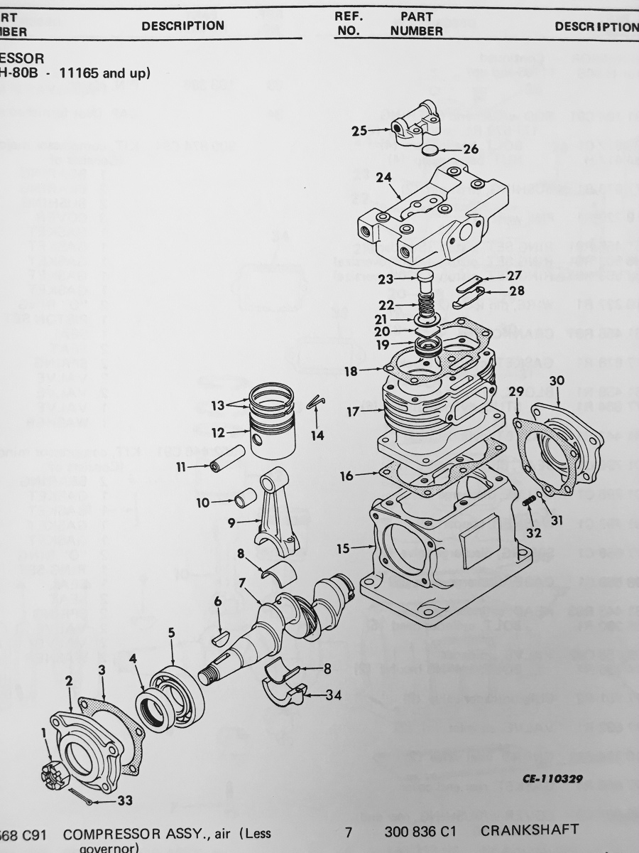 International Td15c Crawler Dozer Tractor Engine Parts Manual Book Diagram Dt414 Dt466