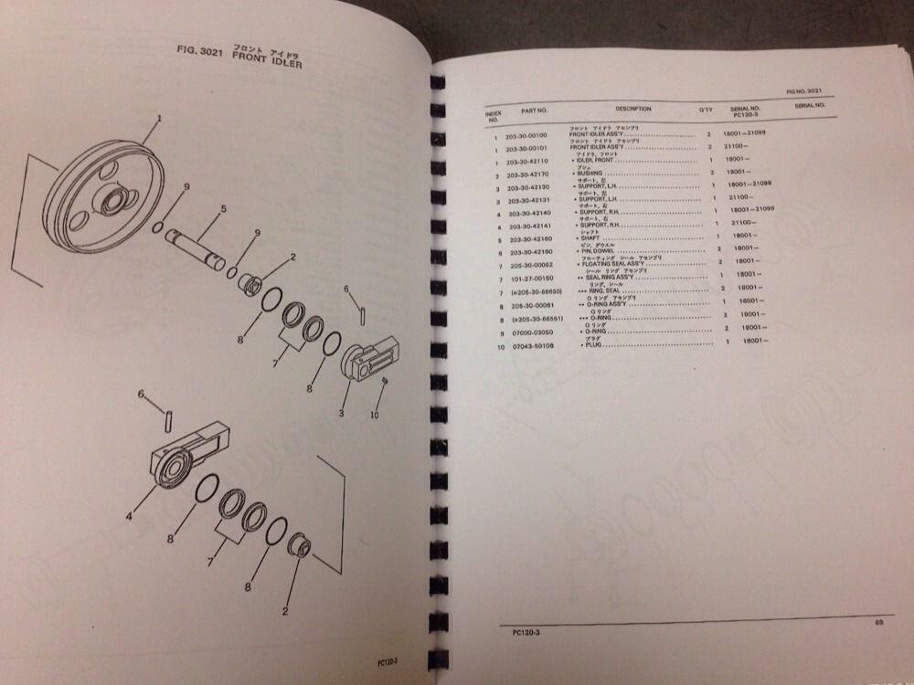 KOMATSU PC120-3 PC120S-3 PC120SS-3 Hydraulic Excavator Parts Manual Book NEW
