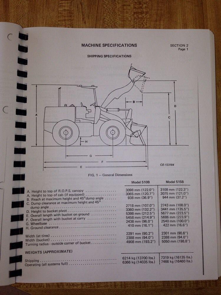 international dresser ih 510b 515b wheel loader service shop manual rh finneyparts us Hough Payloader Dresser 530 Loader Parts