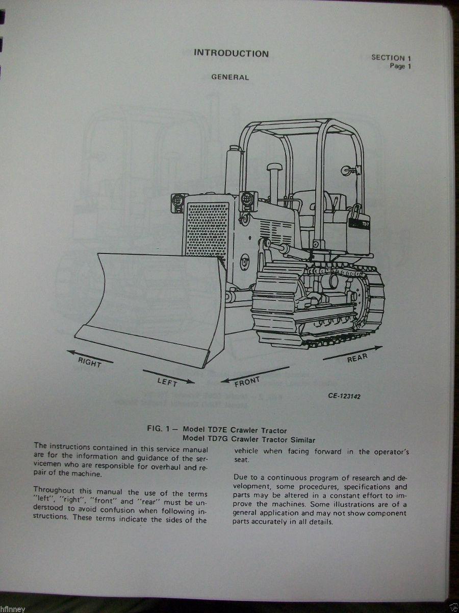 international ih crawler dozer loader td7e td8e 100e 125e service rh finneyparts us International TD8E TD8E Clamp