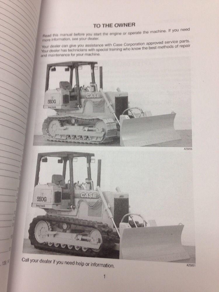 case 550g crawler dozer operation maintenance manual bur 9 26012 rh finneyparts us Case 550E Dozer Parts Case 550 Dozer Manual