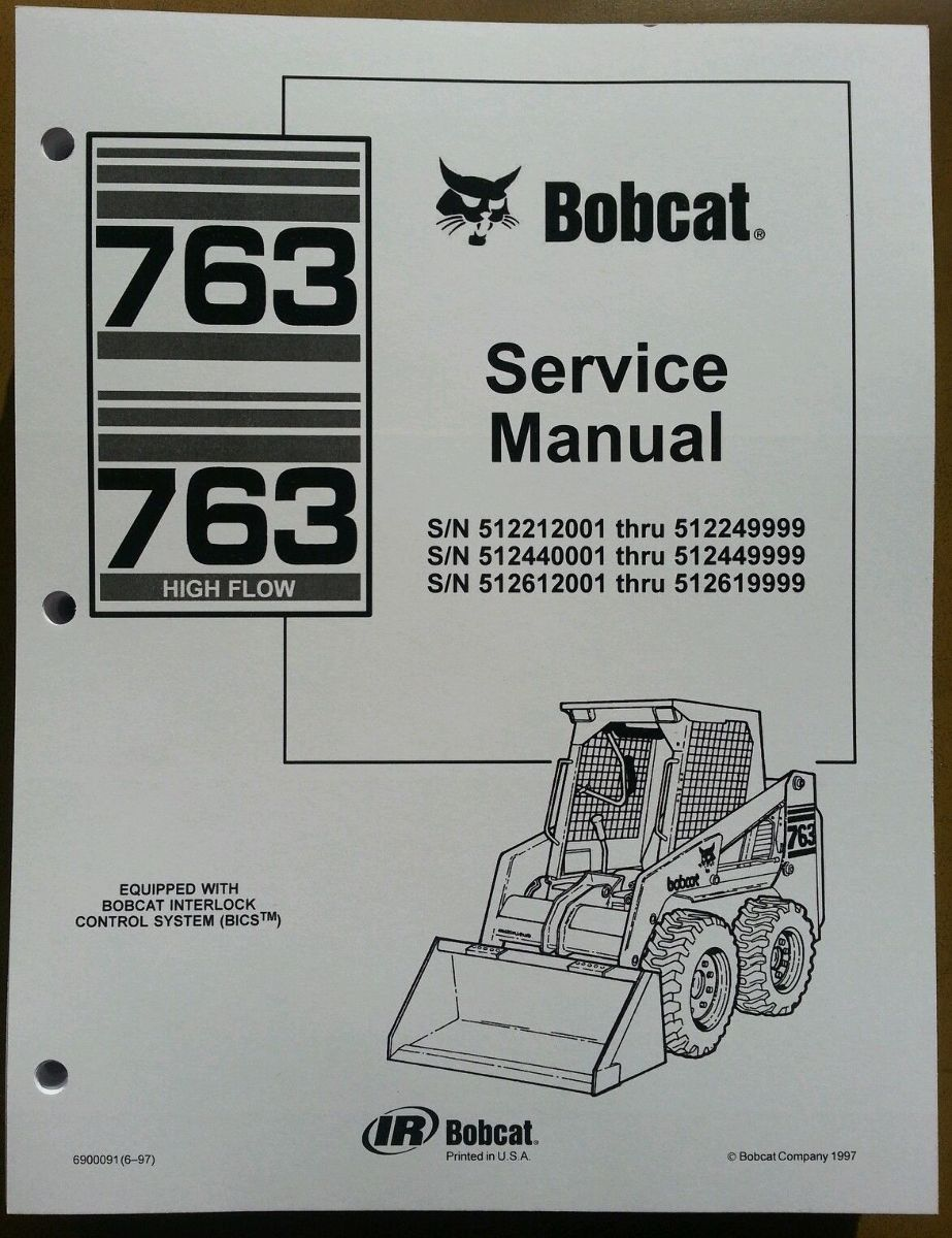 763 bobcat hydraulic schematic bobcat 763 763h service manual book skid steer 6900091 finney  bobcat 763 763h service manual book
