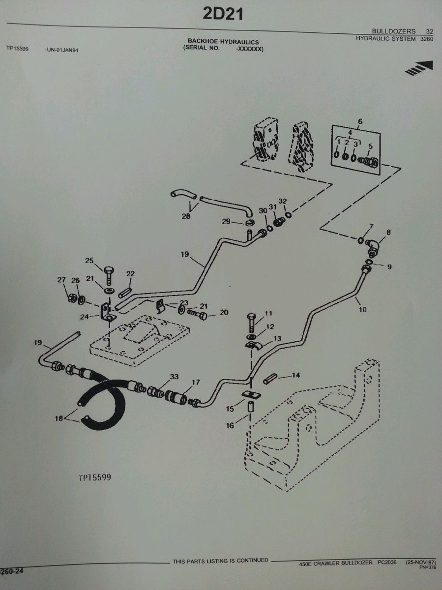 John Deere Jd 450e Crawler Bulldozer Dozer Parts Manual Book Catalog Pc2036