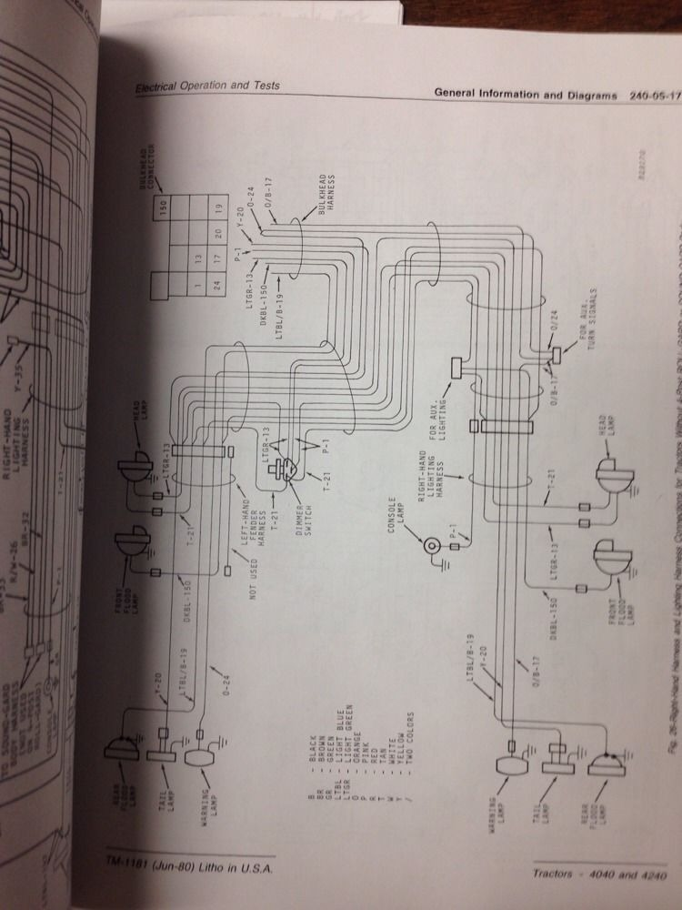 sd424282567 john deere jd 4040 4240 tractor service techincal repair manual tm1181 5 john deere jd 4040 4240 tractor service techincal repair manual