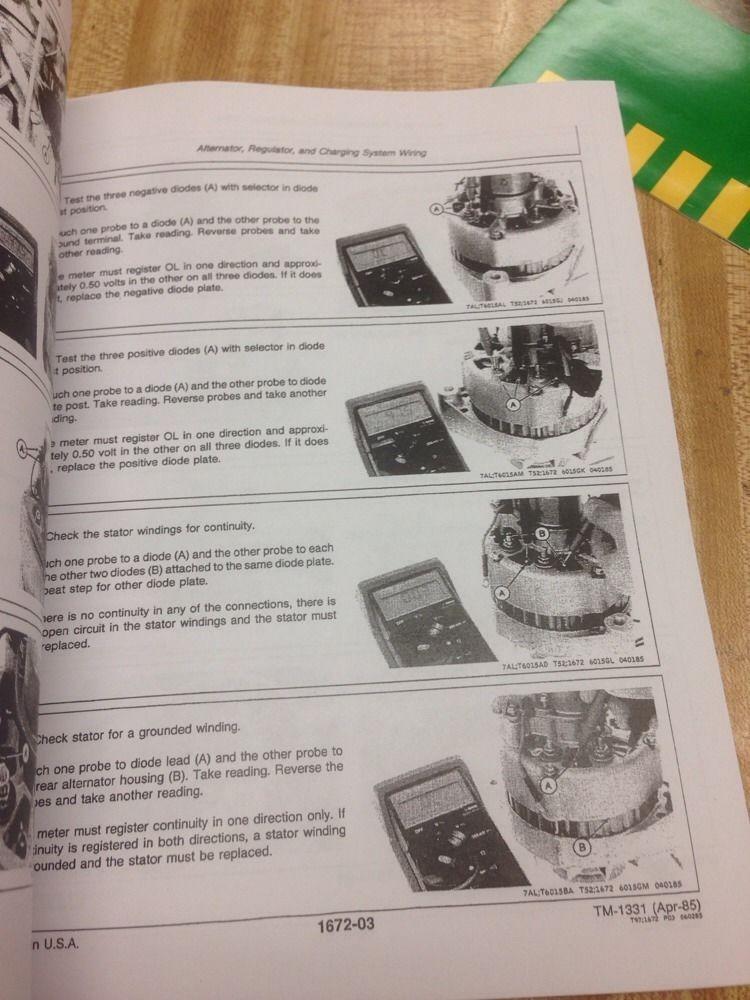 John Deere JD 550B 555B Crawler Service Technical Repair Manual Book on