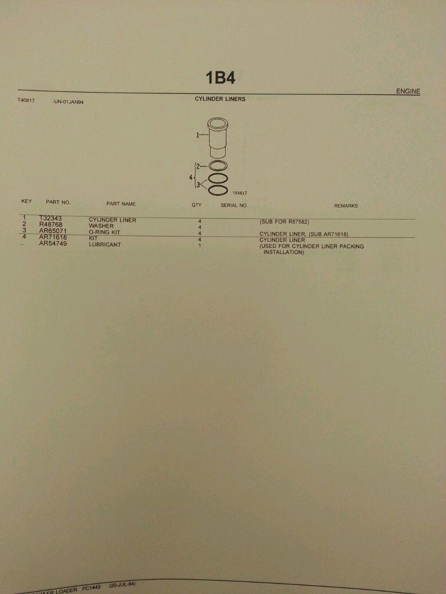John Deere Jd 450c Crawler Loader Parts Manual Book Catalog Pc1443 Wiring Harness