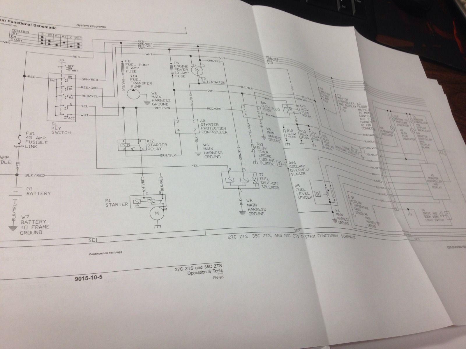 John Deere Jd 27c Zts 35c Excavator Technical Operation Test 350 Wiring Diagram Manual Tm2052
