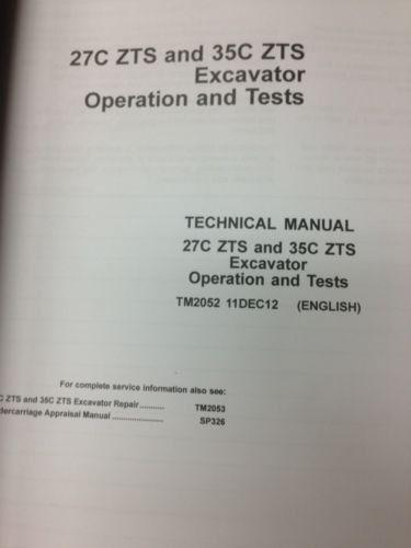 john deere jd 27c zts 35c excavator technical operation test rh finneyparts us john deere 27d service manual john deere 27c zts owners manual