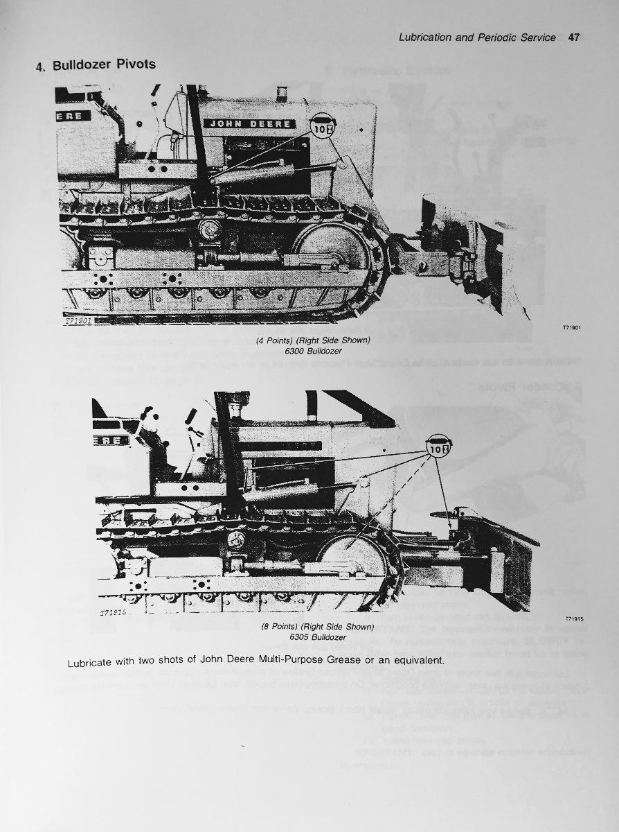 ... John Deere JD 350C Crawler Loader 350C Crawler Bulldozer Operator  Operation Manual OMT79469 F4 ...