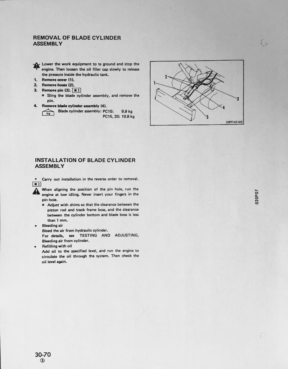 Komatsu Pc10 7 Pc15 3 Pc20 Hydraulic Excavator Service Shop Repair Engine Diagram Manual