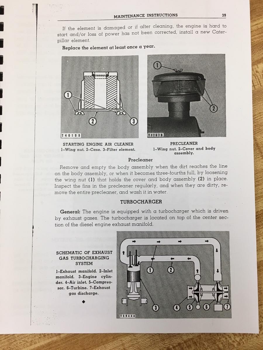 Cat Caterpillar D6 D6C Operator Manual Book Dozer Crawler Ser Num 74A  OPERATION MAINTENANCE