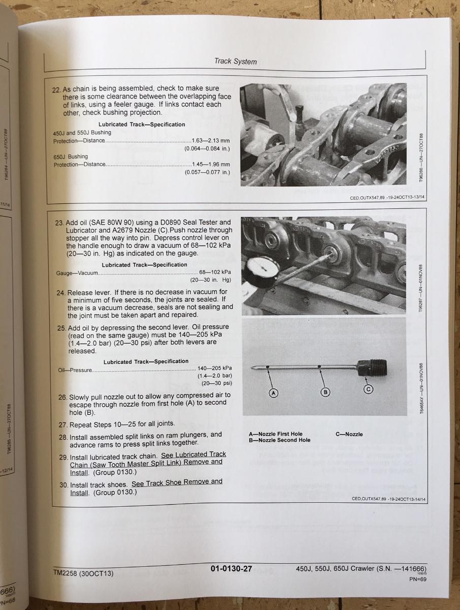 John Deere 450j 550j 650j Crawler Dozer Repair Manual Service Tm2258 Wiring Diagram Early Serial