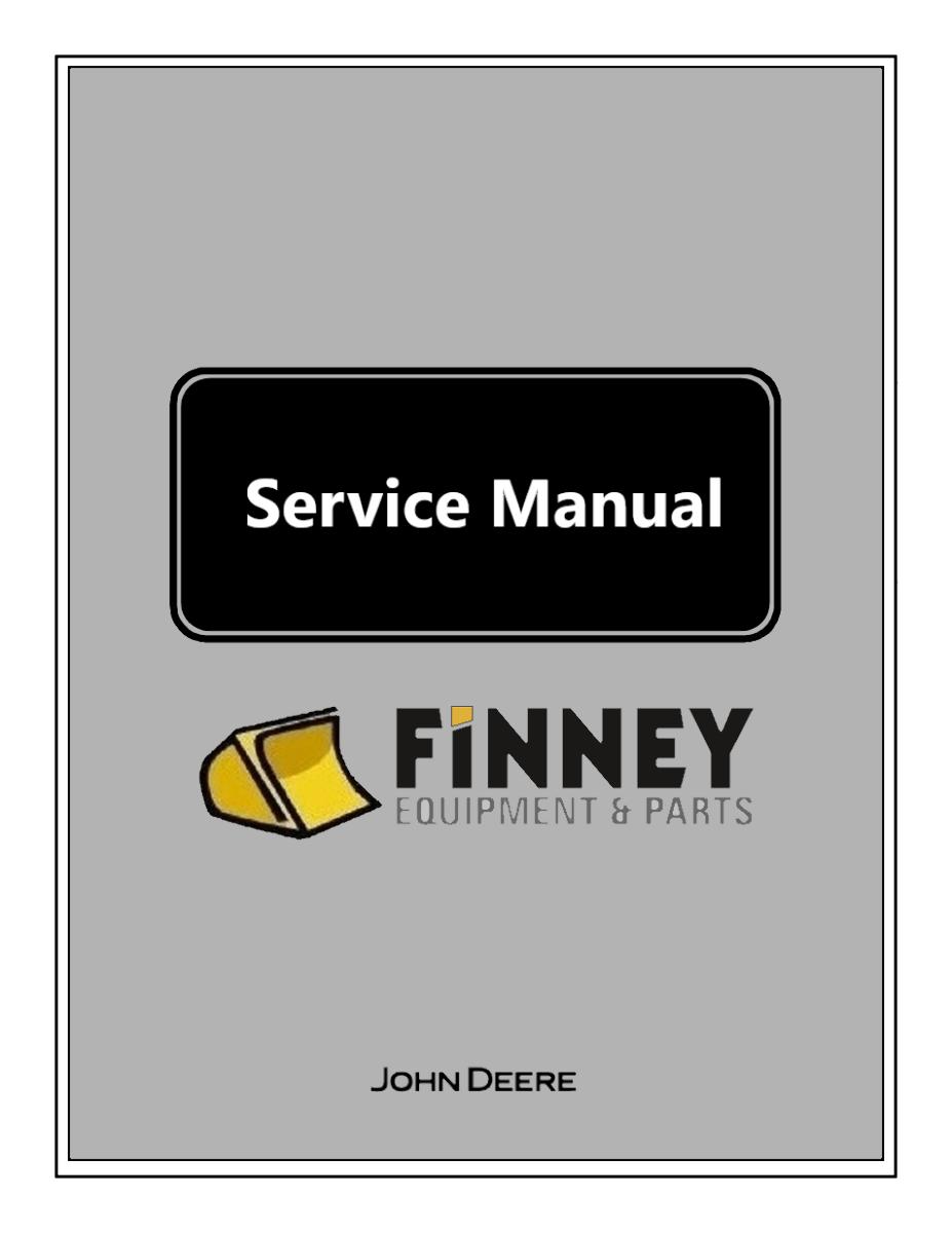 John Deere 310G Backhoe Repair Manual JD TM1886 Book ...