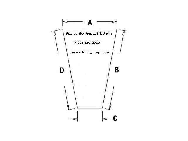Case 580L 580SK 580SL Series 2 Knee Lower RH 107232A1