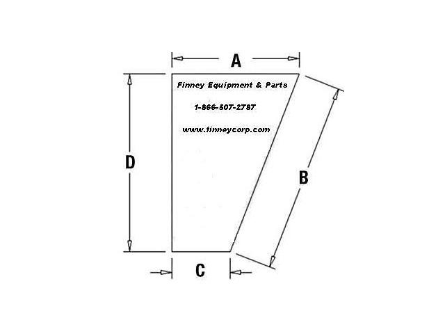 Case 580L 580SK 580SL Series 2 Knee Lower LH 107234A1