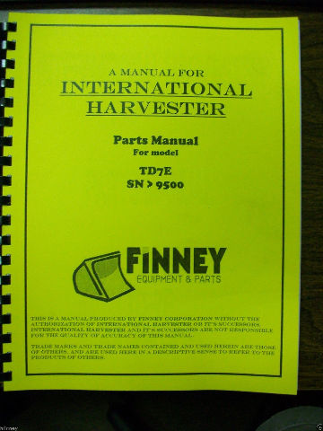 International IH Dresser TD7E Crawler Tractor dozer Parts Book Manual hi sn 9500+