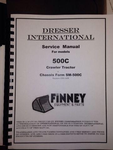 International IH 500C Crawler Tractor Service Manual Chassis Form SM-500C Dozer