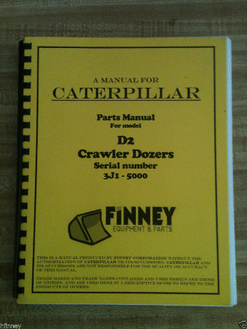 Cat Caterpillar D2 Parts manual book dozer 3J -5000 NEW