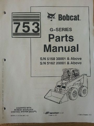 sd423451993 bobcat 753 753g skid steer parts manual book 6900984 bobcat 753 753g skid steer parts manual book 6900984 finney