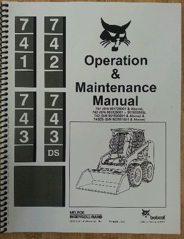 Bobcat 743 Operation Operator Maintenance Manual hi s/n