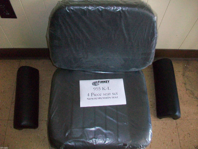 Caterpillar 955L 955K NON SUSPENSION SEAT loader 4 piece Cushion Cat arm rests