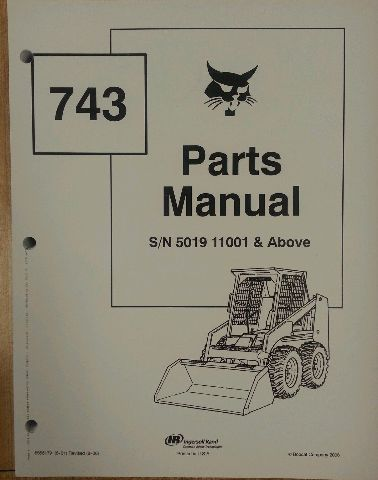 bobcat 743 early parts manual book skid steer loader 6566179 rh finneyparts us 643 Bobcat Service Manual 743 Bobcat Owner's Manual