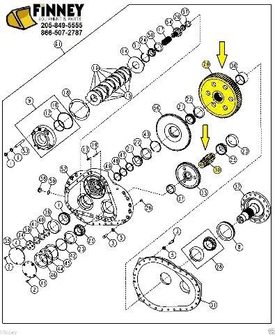 John Deere 700H 700J 700 H J Dozer Final Bull Gear & Pinion NEW T174326 T174327
