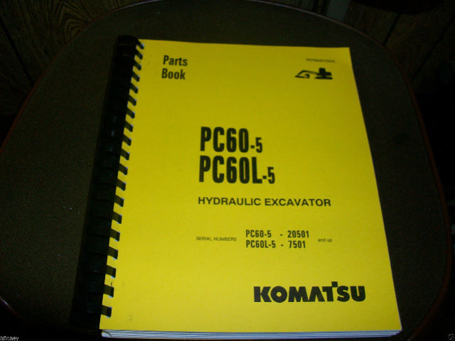 KOMATSU PC60-5 PC60 Hydraulic Excavator Parts Repair Manual Book