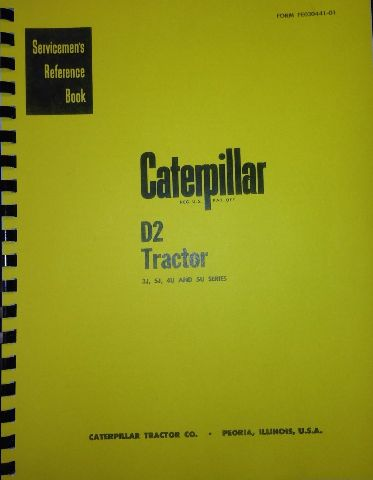 Cat Caterpillar D2 Dozer Shop Repair Service manual book dozer 5U 4U 3J 5J NEW