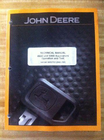 John Deere JD 490D 590D Excavator OPERATION & TEST Manual TM1389