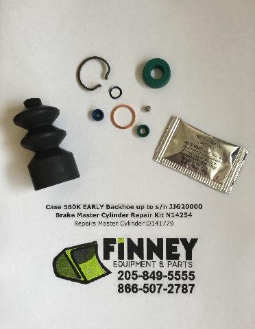 Case 580K EARLY Backhoe Brake Master Cylinder Repair Kit N14254 Repairs D141779