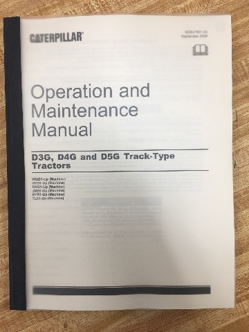 CATERPILLAR D3G D4G D5G DOZER OPERATION MAINTENANCE MANUAL BOOK