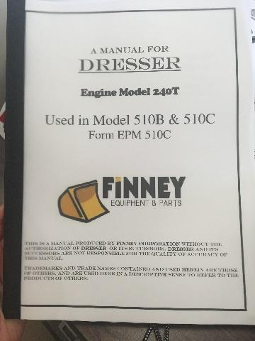 Dresser 510B 510C Engine Book EPM510C Engine 240T