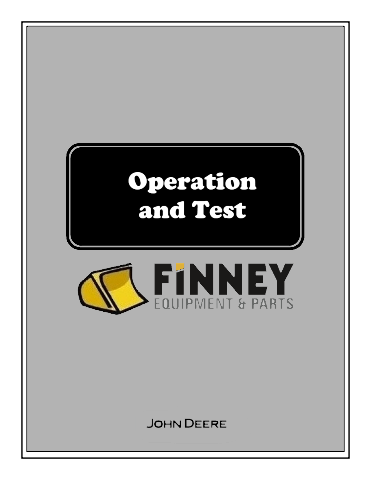 John Deere 450CLC Excavator Operation Test Manual JD TM1924 Book