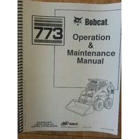 Bobcat 773 Operation & Maintenance Manual Book Early s/n 5096xxxxx