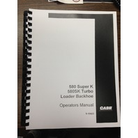 Case 580SK SUPER  K 580 SK  Backhoe Operator Manual operation maintenance