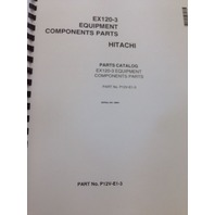 Hitachi EX120-3 Excavator Parts and Hydraulic component Manual TWO VOLUME book