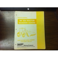 Massey Ferguson MF30E 30E Tractor Loader Backhoe Parts Book Manual 819739M1 NEW