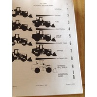 Case 721 Wheel Loader Backhoe Parts manual book 8-4412 rubber tired tire