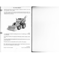 Case 580 SUPER K 580SK Backhoe Operators Manual EUROPE