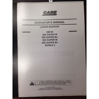 Case 580M  580SM 590SM Series 3 III 590SM Backhoe Operators Manual +