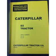 Cat Caterpillar D2 Operators manual book dozer 5U 4U  FORM 10953-10