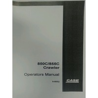 Case 850C 855C Loader Dozer Crawler Operation Operators Maintenance Manual