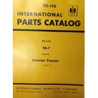 International IH Dresser TD7E Crawler Tractor Dozer parts manual