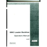 Case 580C Loader Backhoe Operators Manual Operation maintenance book 9-4977