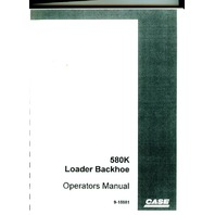Case 580K Loader Backhoe Operator Operation Maintenance Manual Book Guide Owners